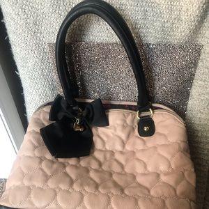 Tan and black Betsey Johnson handbag